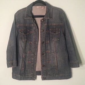 Chico's non fitted jean jacket